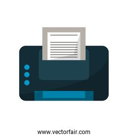 Isolated printer with paper design