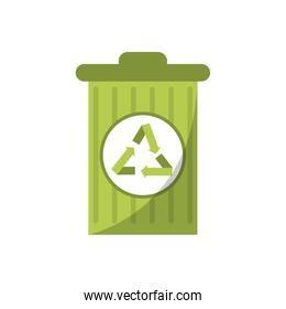 Isolated trash with recycle design