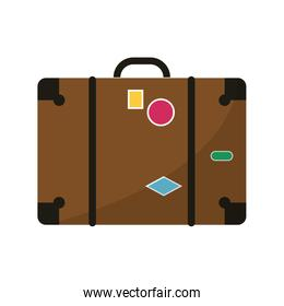 Isolated suitcase of  baggage concept