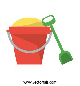 Isolated sand bucket with shovel design