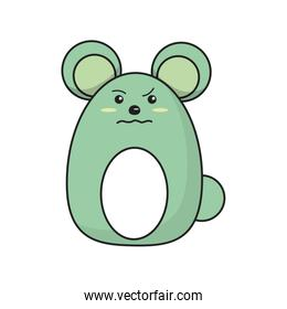 Isolated mouse cartoon design