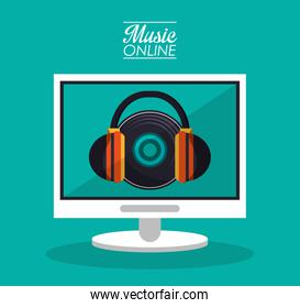 Computer headphone and music online design