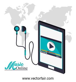 Smartphone and music online design