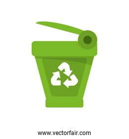 Isolated trash and recycle design