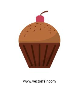 Isolated muffin food design