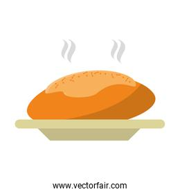 Isolated bread food design