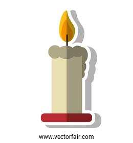 Candle of Christmas season design