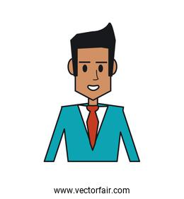 Isolated businessman avatar design