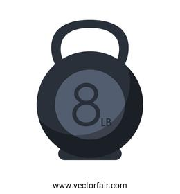 Isolated kettlebel weight of fitness gym