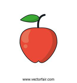 Isolated apple fruit design
