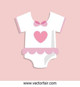 Baby cloth over pink background