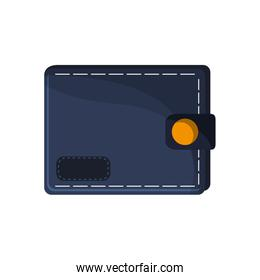 Isolated wallet of money concept