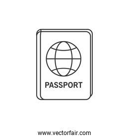 Passport of travel and tourism concept