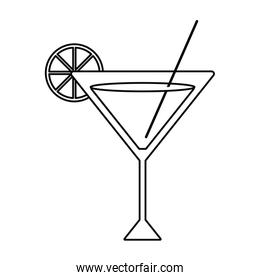 Isolated summer cocktail design