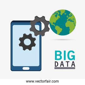 Smartphone gears planet and big data design