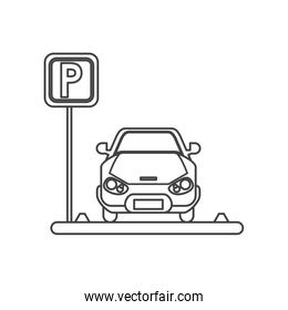 Car vehicle and parking zone design