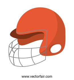 Helmet of american football sport design