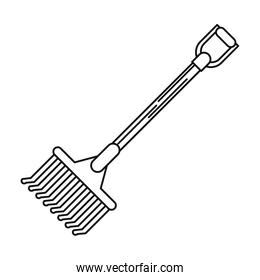 rake tool of farm design