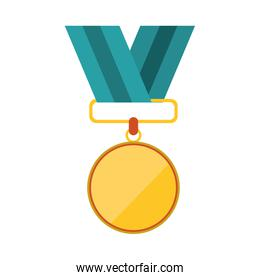 Isolated medal design