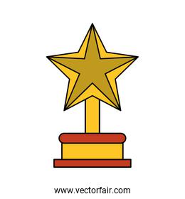 Isolated trophy star design