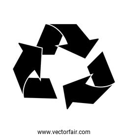 Isolated eco recycle sign design