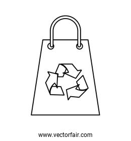 Isolated eco recycle bag design