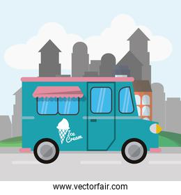 Colorful food truck design