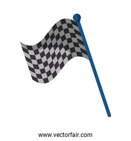Isolated flag of formula racing concept