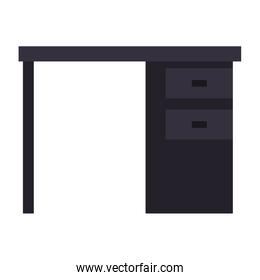 black desk office drawers icon