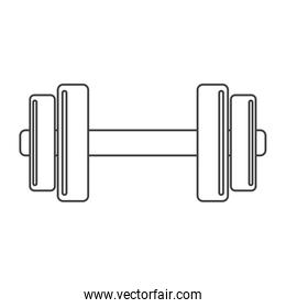 outline barbell fitness gym icon design