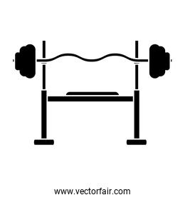 silhouette brench press exercise gym design