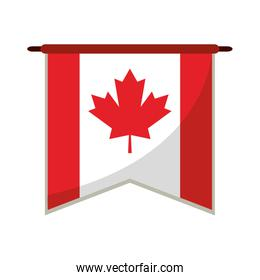 flag pennant canadian red and white