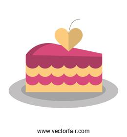 delicious pink cake with love heart