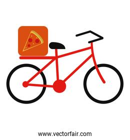 pizza food delivery bicycle
