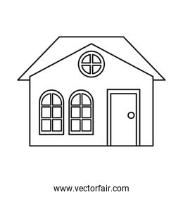 house family architectural suburban outline