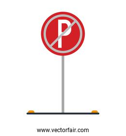 prohibited parking car sign traffic