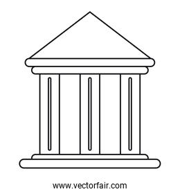 building office bank structure outline