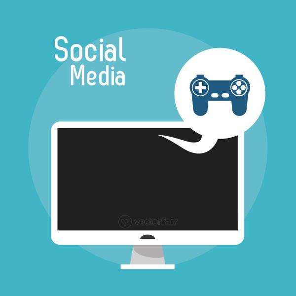 laptop social media game control console