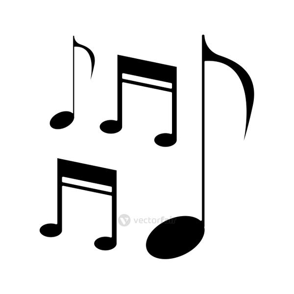 silhouette music note sound melody symbol