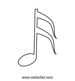 musical note melody symbol outline