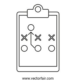 board tactical diagram american football outline