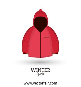 winter sport pink jacket clothes