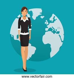 woman business work global design