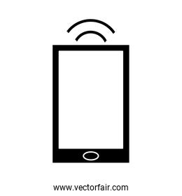 silhouette smartphone internet connection digital device