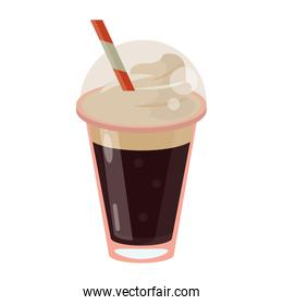 frappe coffee straw take out container
