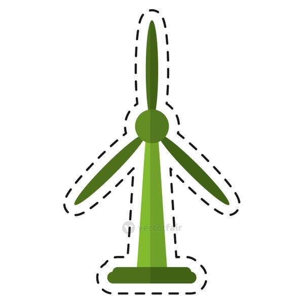 wind turbine energy bio tower - dot line