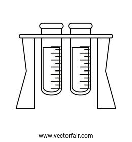 test tube rack medicine laboratory thin line