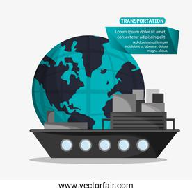 ship cargo container transport worldwide