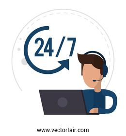 character male call center support 24-7