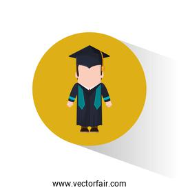 graduate student cap and gown